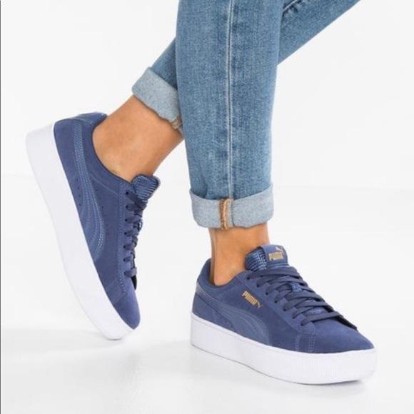 PUMA Women's Vikky Platform Sneaker